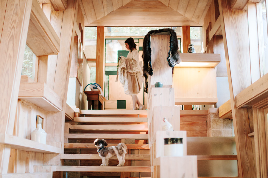 bride havanese modern waterfall house westminster south carolina ben and colleen wedding photographers